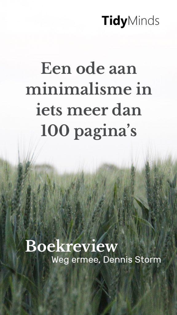 Boekreview Weg Ermee Dennis Storm over minimalisme en ontspullen door Tidy Minds