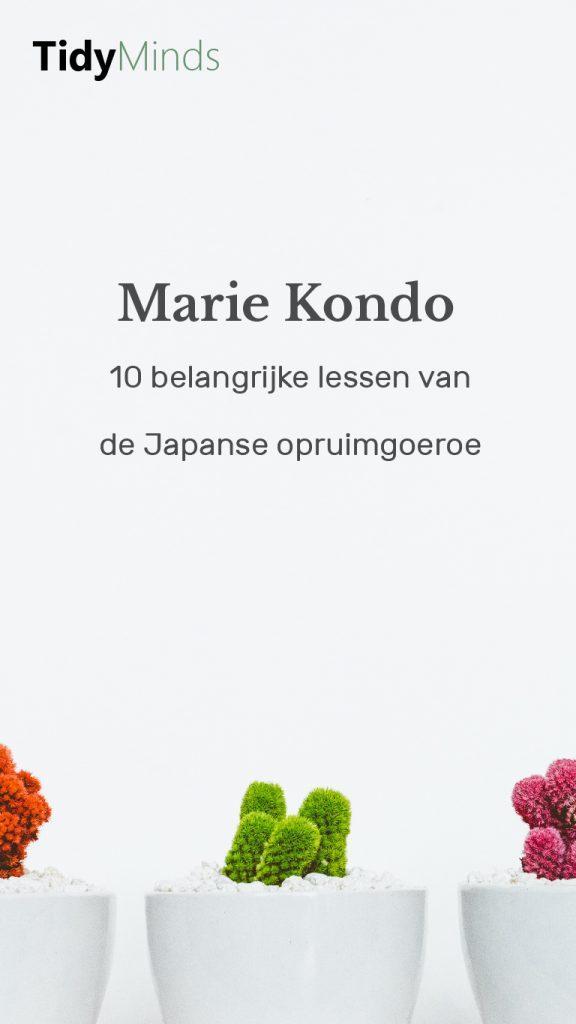10 lessen van Marie Kondo
