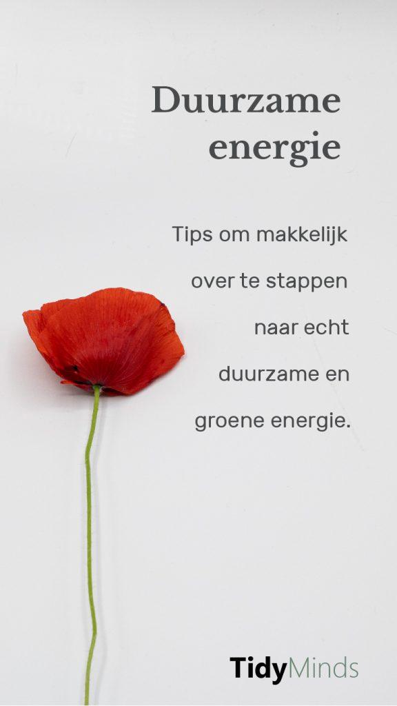 Grafiek voor meest duurzame energie tips voor groene stroom (1)