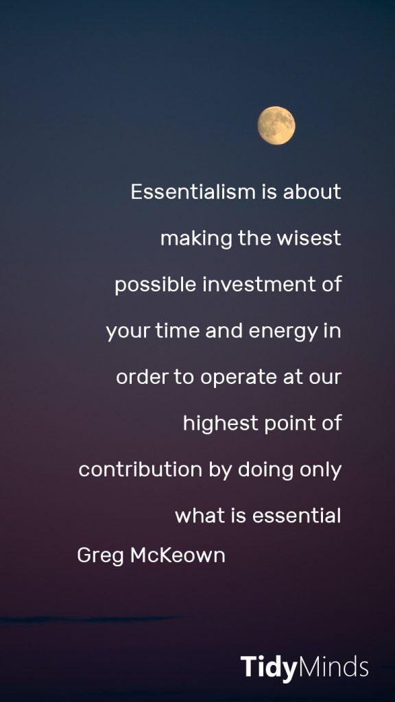 Quote Essentialisme Greg McKeown