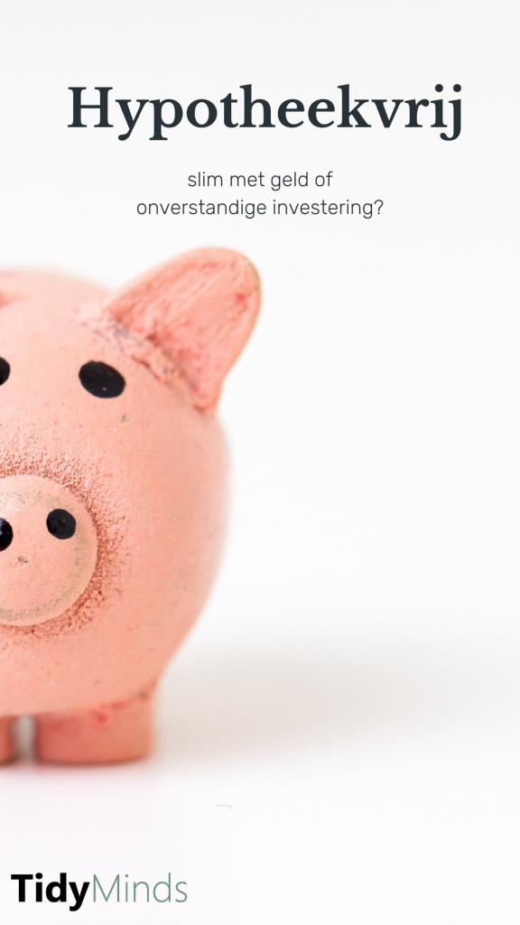 Hypotheekvrij extra aflossen als slechte investering | Tidy Minds
