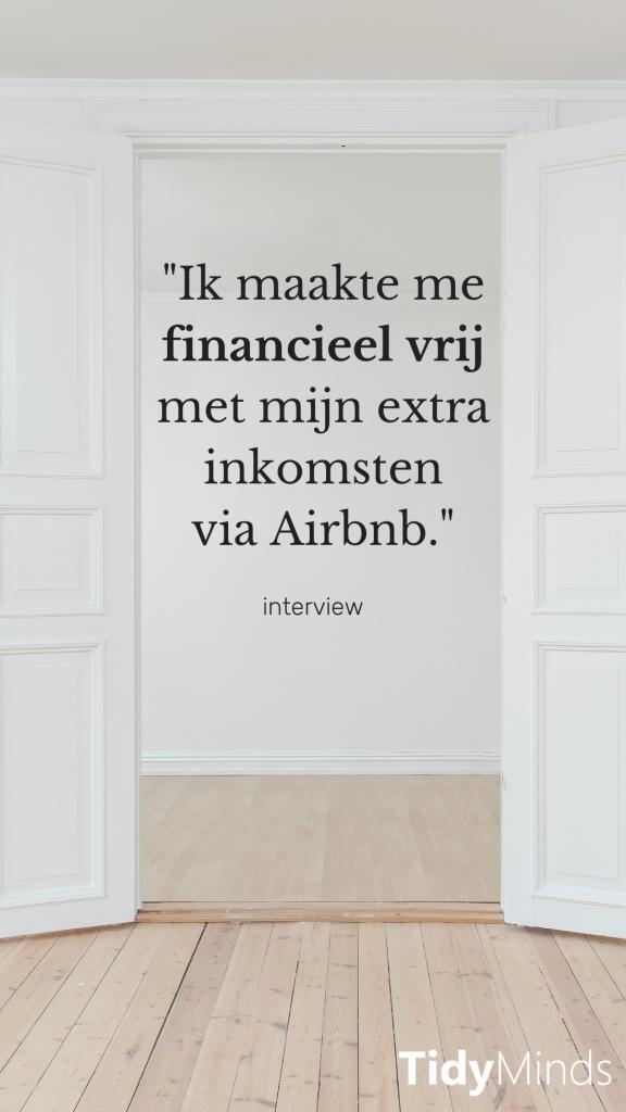 financiele vrijheid via Airbnb verhuren