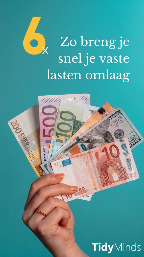 besparen op vaste lasten per maand tips | geldzaken | slim met geld