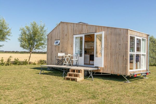 Proefslapen in tiny houses on wheels